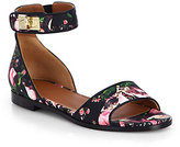Givenchy Rose Camouflage-Print Leather Sandals