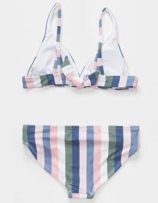 Raisins Malibu Stripe Girls Tringle Bikini Set