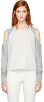 Rag & Bone Grey Standard Issue Slash Sweatshirt