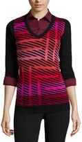 WORTHINGTON Worthington Long-Sleeve Essential V-Neck Sweater - Tall