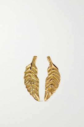 Brooke Gregson Leaf 18-karat Gold Earrings