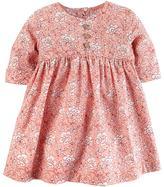 Carter's Baby Girl Pink Floral Print Dress