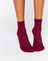 Asos Glitter Ankle Socks