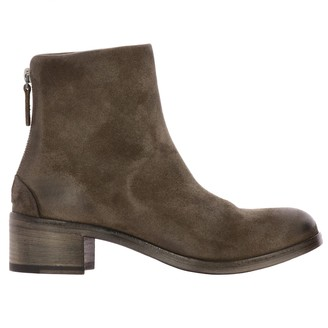 Marsèll Listo Zip Ankle Boots In Suede With Macro Zip