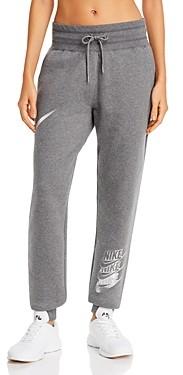 Nike Metallic-Logo Fleece Sweatpants