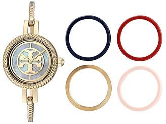 Tory Burch Reva Bangle Watch Set (Gold - TBW4029) Watches