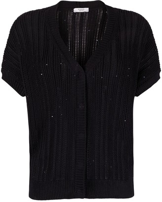 Peserico V-neck sequin-embellished cardigan