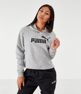 Puma Women's Elevated Essentials Cropped Fleece Hoodie