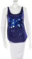 Moschino Cheap & Chic Moschino Cheap and Chic Mesh Embellished Top