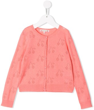Bonpoint Cherry Knit Cardigan
