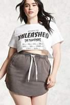 Forever 21 FOREVER 21+ Plus Size Raw-Cut Mini Skirt