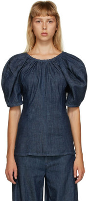 Marni Blue Denim Blouse