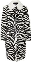 RED Valentino Fur Zebra Print Coat