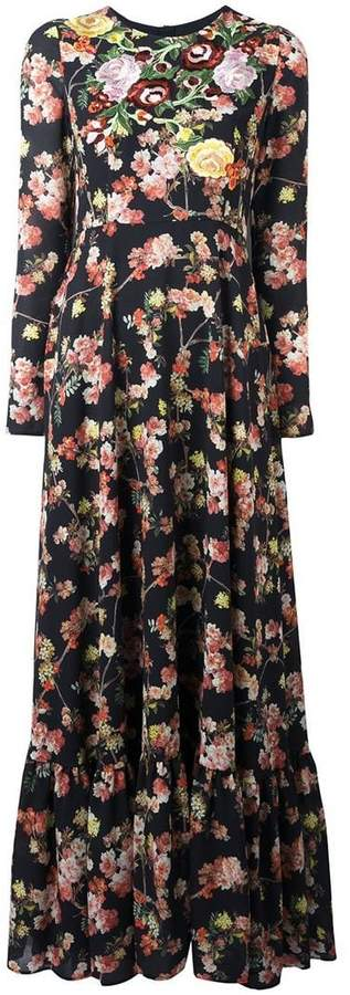 Antonio Marras rose embroidered floral dress