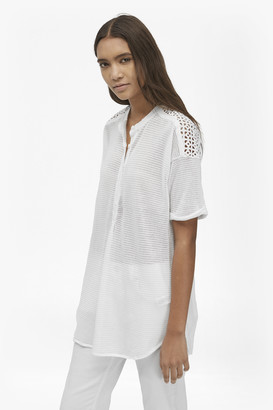 French Connection Celia Knitted Mix Longline T-Shirt