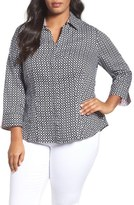 Foxcroft Tile Print Shirt (Plus Size)
