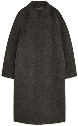 Arket Recycled Wool and Alpaca Cocoon Coat