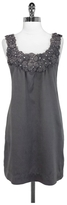 Yoana Baraschi Grey Silk Blend Shift Dress