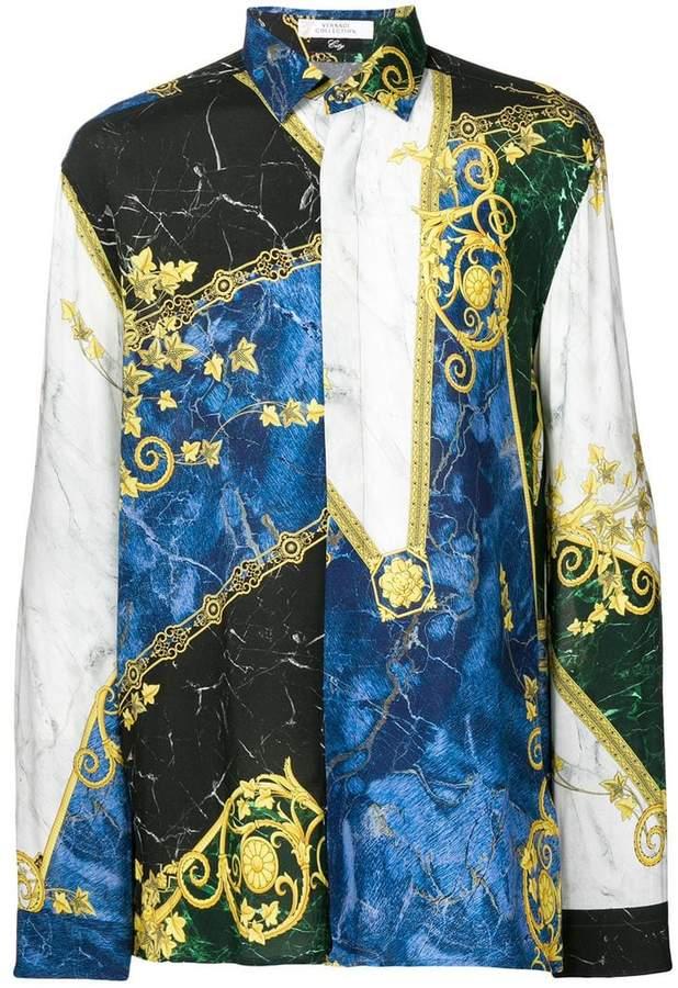 Versace marble print shirt
