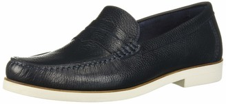 Driver Club Usa Mens Leather Made in Brazil Rubber Sole Penny Loafer