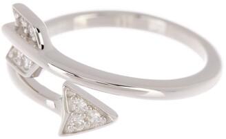 ADORNIA Arrow Wrap Around Swarovski Crystal Ring