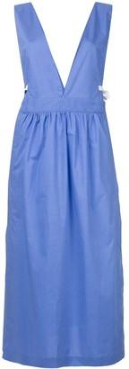 MM6 MAISON MARGIELA V-neck pinafore dress
