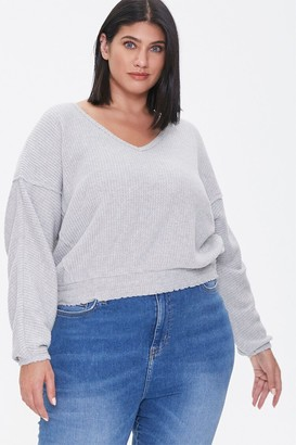 Forever 21 Plus Size Waffle Knit Top