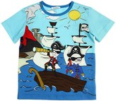 Dolce & Gabbana Pirates Print Cotton Jersey T-Shirt