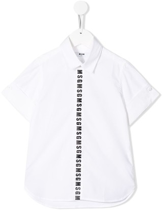 Msgm Kids Logo Band Shirt