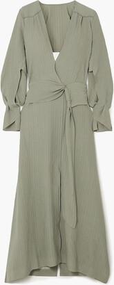 Roland Mouret Springbrooke Cutout Silk-jacquard Maxi Dress