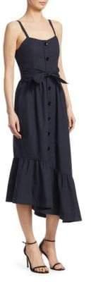 Derek Lam 10 Crosby Women's Ruffle Hem Cami Dress - Midnight - Size 10
