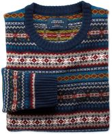 Charles Tyrwhitt Multi Fairisle Crew Neck Wool Sweater Size XXL