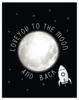 Love You to the Moon - Rocket