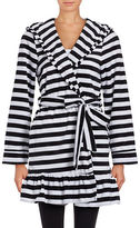 Betsey Johnson Vintage Terry Striped Robe