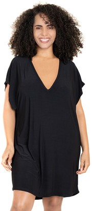 Jordan Taylor Plus Size Beachwear Back-Cutout Cover Up
