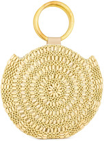 Magid Women's Handbags NATURAL - Natural Woven Beaded Circle Satchel