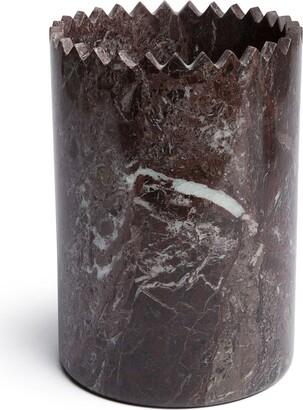 Editions Milano Triangoli marble vase (21cm)