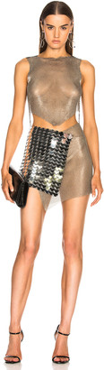 Fannie Schiavoni Mesh and Scale Dress in Silver | FWRD