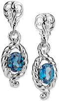 Macy's Blue Topaz Drop Earrings (2-3/8 ct. t.w.) in Sterling Silver
