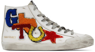 Golden Goose White Texas Patch Francy Sneakers