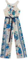 Rare Editions Floral-Print Jumpsuit, Big Girls