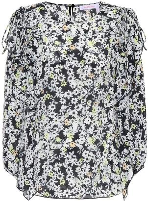 See by Chloe Floral-printed silk-blend top