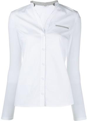 Peserico Contrasting Button Shirt