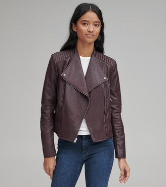 Marc New York   Final Sale Pelham Leather Scuba Jacket