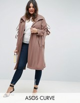 Asos Duster With Loop Sleeve Detail