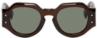 Dries Van Noten Brown Linda Farrow Edition 174 C8 Sunglasses