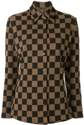 Fendi Pre-Owned Checked Slim Shirt