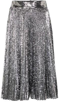 Dolce & Gabbana Sequined pleated midi skirt