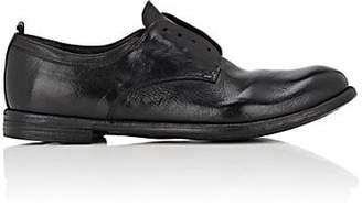 Officine Creative Men's Washed Leather Bluchers - Black