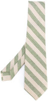 Kiton diagonal stripes tie - men - Silk/Cotton/Linen/Flax - One Size
